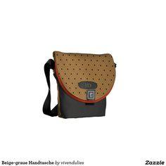 Beige-grey handbag messenger bag