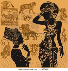 Find African Setafrican Masks African Set stock images in HD and millions of other royalty-free stock photos, illustrations and vectors in the Shutterstock collection. African Art Paintings, Dance Paintings, Arte Tribal, Tribal Art, Africa Silhouette, Afrique Art, Style Africain, Indian Folk Art, African Girl