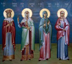 St. Alexandra, St. Barbara, St. Marina & St. Zoe by Michael Alevyzakis