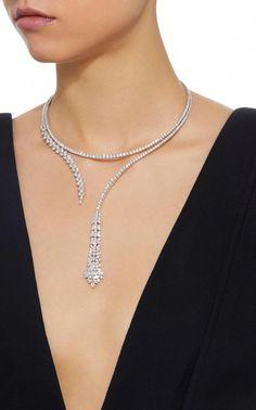 Diamond Necklace Unbroken Infinity Diamond Drop Necklace by Yeprem - Stylish Jewelry, Luxury Jewelry, Fine Jewelry, Fashion Jewelry, Geek Jewelry, Diamond Necklace Set, Drop Necklace, Infinity Necklace, Diamond Rings