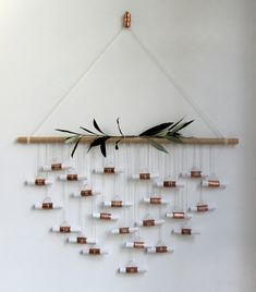 DIY copper pipe advent calendar | Growing Spaces