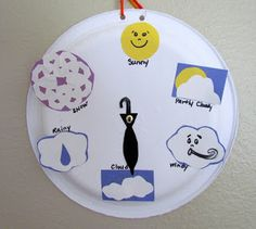 Learn To Grow: Weather Wheel paper plate craft!