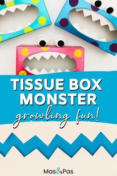 Toddler Arts And Crafts, Crafts For Kids To Make, Easy Crafts, Kids Diy, Kids Crafts, Indoor Activities For Kids, Preschool Activities, Weekend Activities, Monster Crafts