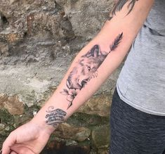 Check out our website for more Tattoo Ideas 👉 positivefox.com #wolftattoos #tattooideas