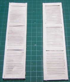 How to: Miniature shutters.