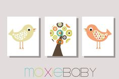 OH NATURE Nursery Room Wall Art Set of 3 8x10 by Moxie Baby Boutique