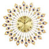 Wall Peacock Clock & Metal Clock & Peacock Metal Wall Clock