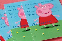 Invitaciones Peppa Pig