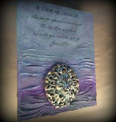 Blessing Blocks- Collectible, Inspirational Paintings.  No.103 Strong Lion