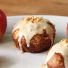 If you have a bounty of apples this fall - make these Peanut Butter Caramel Apple Muffins. Seriously, the best autumnal treat!