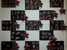 Ekaluokkalaisten piparityöt. (Alkuopettajat FB -sivustosta / Anne-Mari Ranne) Teaching Art, Snowflakes, Christmas Tree, Candles, Teal Christmas Tree, Xmas Trees, Xmas Tree, Christmas Trees, Pillar Candles