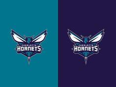 Charlotte Hornets primary logo on Behance