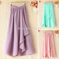 Original design leisure high waist cotton linen long skirts ...