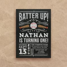 Baseball Birthday Invitation  first birthday  by QuiteFetchingDIY