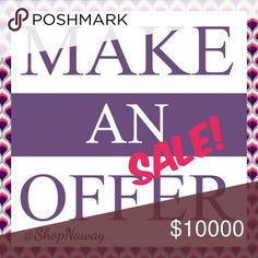 """🛍Let's Go Shop N' - Party SALE! To celebrate my upcoming posh party, I'm having a """"Make An Offer"""" SALE.  See something you like in my closet, make a REASONABLE off and enjoy it NOW.   Interested in more than 1 item, let me know and I will create a custom bundle.  Give me an opportunity to serve YOU!  Let's clear out my closet before the 8/4 PARTY.  😘 Other"""