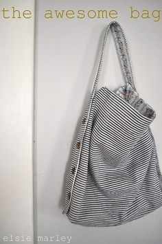 the awesome bag. tutorial by elsie marley.