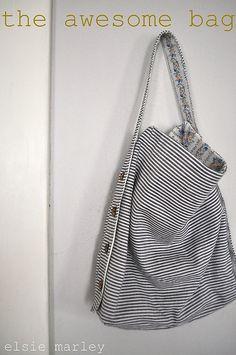 gorgeous bag. tutorial by elsie marley.