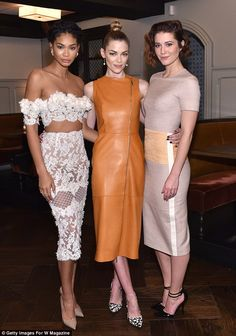 Gorgeous gals! The award-winning actress was joined by supermodel Chanel Iman and actress ...