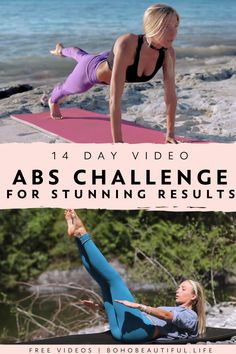 14 Day Core Challenge Workout Guide Boho Beautiful FREE CHALLENGE This 14 Day Core Challenge Workout Guide will help you sculpt tone and define your abs For the next Pilates Workout Videos, Pilates Training, Yoga Videos, Pilates Yoga, Pilates Reformer, Core Challenge, Workout Challenge, Fitness Herausforderungen, Pilates Fitness