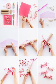 Gorgeous Valentines crackers by the lovely ladies of Oh Happy Day.  http://ohhappyday.com/2015/02/valentines-confetti-crackers-diy/#more-30118