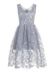 Sweet Heart Floral Printed Skater Dress - fashionmia.com