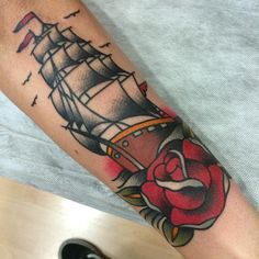"""Ship from this morning, thanks for looking! #tattoo #traditional…"