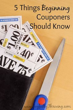 5 Things Beginning Couponers Should Know - If you want to start using coupons, check out this list for tips to help you get started. Coupons will save you so much money!