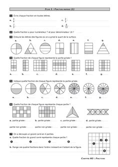 A complete mathematics file under free license CC-BY-SA for the year of Both online and in printable format, the documents are available free to . Math 5, 5th Grade Math, Teaching Math, Fractions Worksheets, Math Fractions, Adding Fractions, Comparing Fractions, Teaching Fractions, Equivalent Fractions