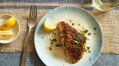 NYT Cooking: Pan Roasted Fish Fillets With Herb Butter...I did this with salmon and it was very good and easy.