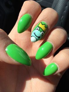 Carnaval inpired frog nails