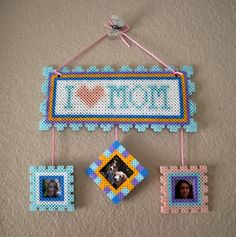 Mother's day present perler beads by Claudia Rocha
