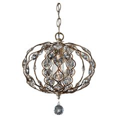 Foyer? Leila Chandelier by Feiss | F2742/1BUS