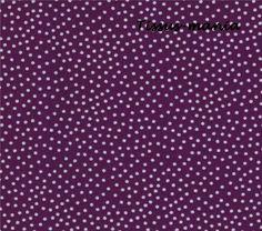 Tissu patchwork mini  pois  violet Miller