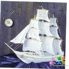 Crocheted Ship.  No way could I do this, but omg, how beautiful.