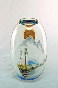 Habatat Mark Peiser Paperweight Vase Series circa 1980 Glass Art : Lot 28