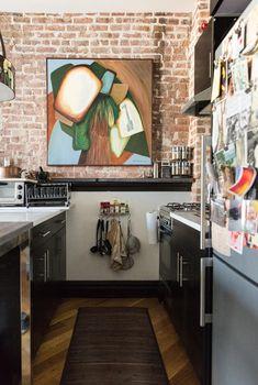 Make It Work: 9 Smart Design Solutions for Narrow Galley Kitchens Galley Kitchen Ideas - Designs, Layouts, Style Galley Kitchen Design, Galley Kitchen Remodel, Galley Kitchens, Small Kitchens, Kitchen Remodeling, Remodeling Ideas, House Remodeling, Dream Kitchens, Smart Design