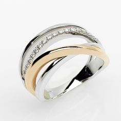 Deluxe 0.14 CT Brilliant Cut Diamond Wedding Ring Made in Italy