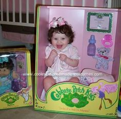 Cabbage Patch Kid Costume - THIS is the one I first saw years ago... the box is made of wood and hand painted. so impressive!