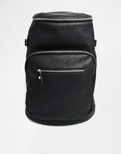 ASOS Faux Leather Zip Backpack