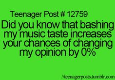 Seriously, I like almost every genre. shush