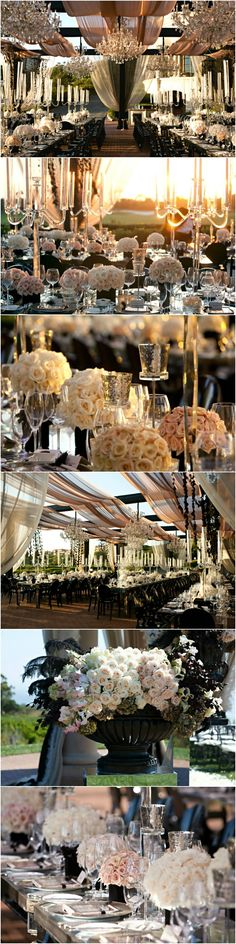 Wedding ● Tablescape & Reception Décor ● Outdoor Elegance # Neutral Wedding ... Wedding ideas for brides, grooms, parents & planners ... http://etsy.me/1BV5L8E … plus how to organise an entire wedding ♥