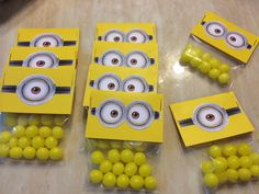 blue candy would be great for these. Despicable Me Minion mini candy labels