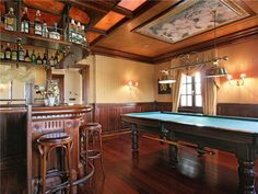 Every dream house needs a bar and game room !