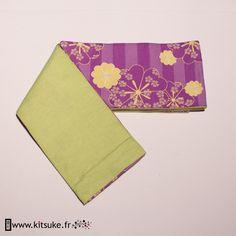 Hanhaba Obi Rose motif fleur - kitsuke.fr