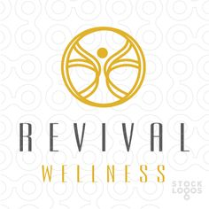 calm and relaxing logo design, representing the body's mind and spirit.