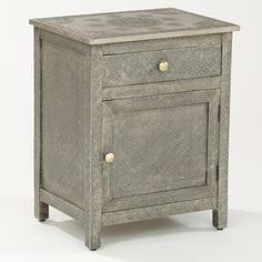 Kiran Embossed Metal Cabinet   World Market $229