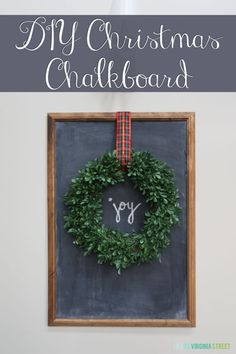 DIY Christmas Chalkboard #100Christmasprojects