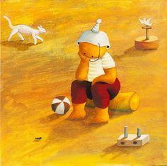 A criança é eterna nas pinturas de Ricardo Ferrari - Revista Prosa Verso e Arte Ferrari, Disney Characters, Fictional Characters, Nostalgia, Childhood, Geek Stuff, Disney Princess, Tropical, Illustration