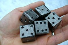 "BLACKSMITH FORGED DIE  (1"" square) ,  Gifts for Him. $12.50, via Etsy."