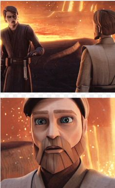 I think that obi-wan feels that there will always be a darkside to Anakin and other Jedi. But Anakin will be able to fight it. And the thought of him not, kills obi-wan slowly and painfully. So now he's barley alive